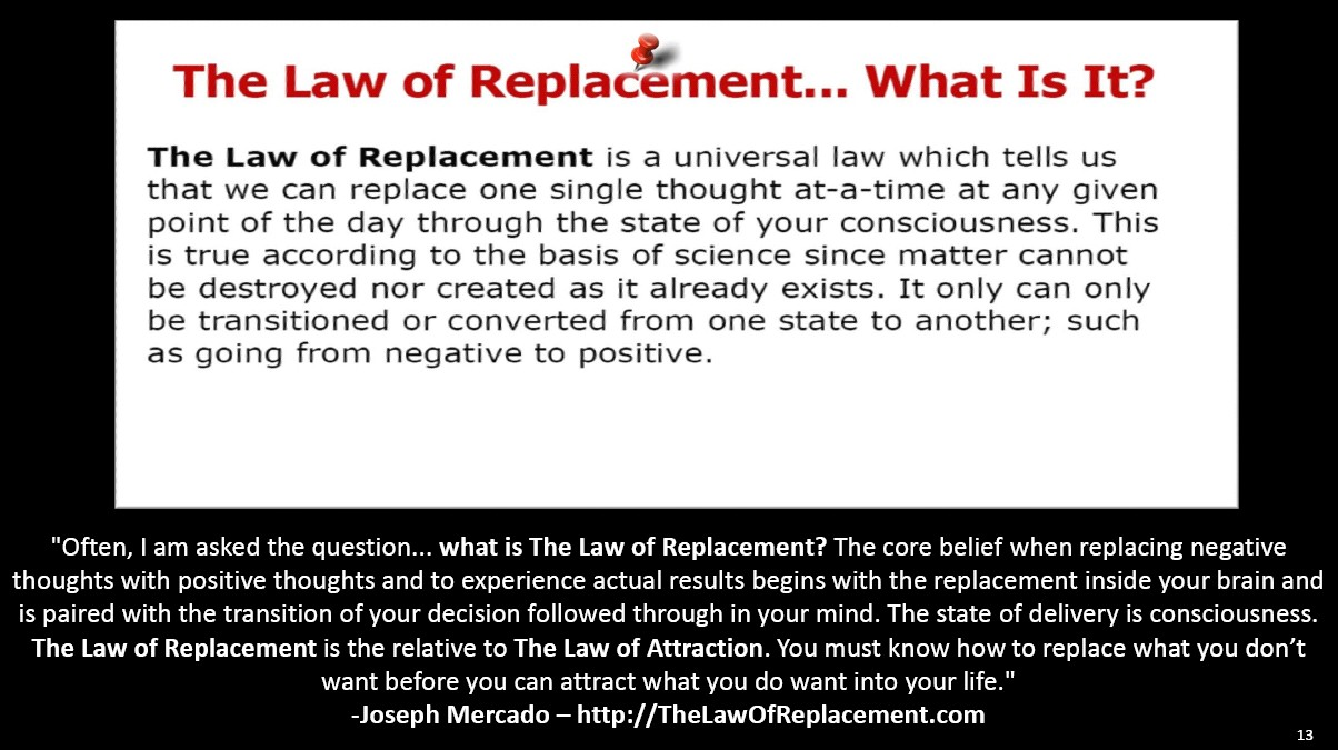 The Law of Replacement