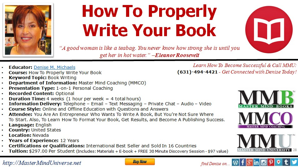 how to properly write a book